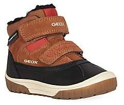 Geox Little Boy's Omar Waterproof Faux Fur-Lined Leather Boots