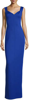 Black Halo Sleeveless Ponte Sweetheart Gown, Sapphire $575 thestylecure.com