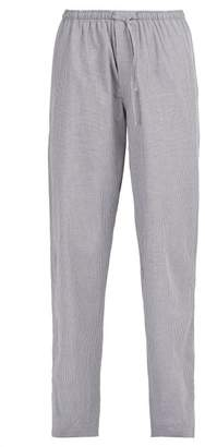 Zimmerli Check Cotton Pyjama Trousers - Mens - Grey