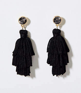 LOFT Stone Tassel Earrings