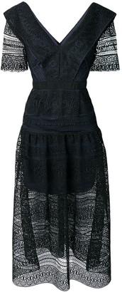 Self-Portrait lace long dress