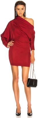 Carmen March Asymmetrical Shoulder Mini Dress