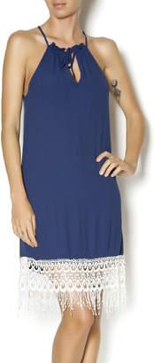 Lucy-Love Lucy Love Navy Halter Dress