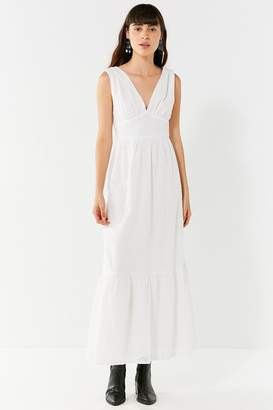 Urban Outfitters Embroidered Eyelet Maxi Dress