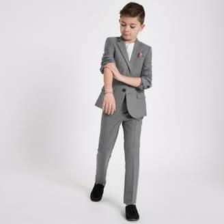 River Island Boys grey suit pants