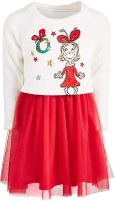 Hybrid Toddler Girls Cindy-Lou Who Layered-Look Dress