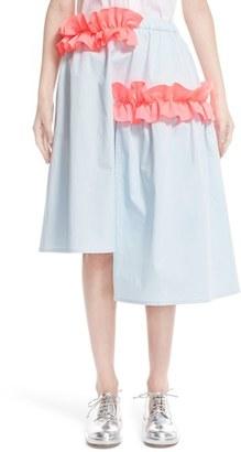 Women's Paskal Contrast Frill Asymmetrical Skirt $660 thestylecure.com