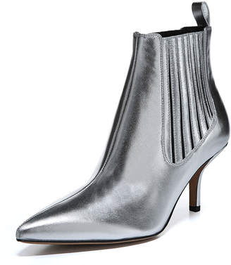 Diane von Furstenberg Mollo Pointed Metallic Booties