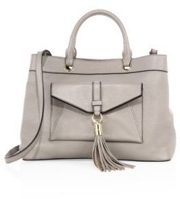 MILLY Astor Leather Tote $438 thestylecure.com