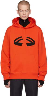 Helmut Lang Orange Halloween Hoodie