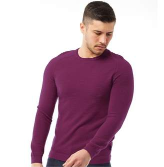 7298645fdca8cc Ted Baker Mens Potter Long Sleeve Textured Crew Neck Pink