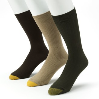 Gold Toe Goldtoe Men's GOLDTOE 3-pk. Patterned Dress Socks