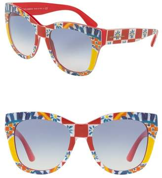 Dolce & Gabbana 55mm Gradient Sunglasses