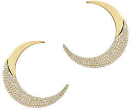 Lana Small Flawless Crescent Earrings in 14k Yellow Gold with Diamonds