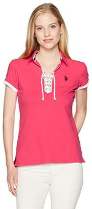U.S. Polo Assn. Women's Laceup Pique Polo Shirt
