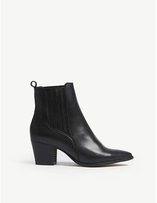 Office Amos leather western chelsea boots