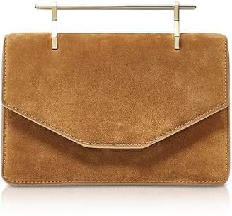 M2Malletier Indre Camel Suede Crossbody Bag