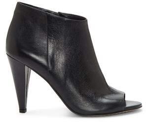 Vince Camuto Azalea Peep-Toe Leather Booties
