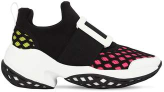 Roger Vivier 75mm Viv Run Neoprene & Mesh Sneakers