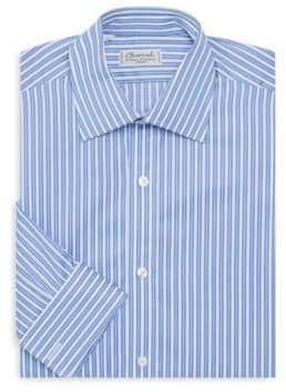 Charvet Striped Spread Collar Dress Shirt