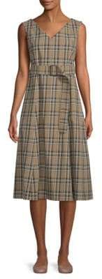 Max Mara Plaid A-Line Dress