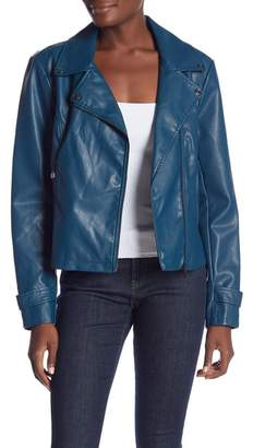 Laundry by Shelli Segal Faux Leather Jacket