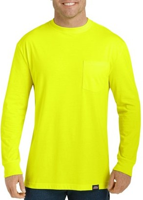 Dickies Men's Long Sleeve Enhanced Visibility T-Shirt, 2-Pack