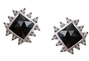 Coomi Silver Women's Vitality Diamond, Black Spinel & Sterling Silver Stud Earrings