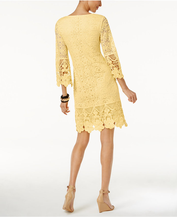 Alfani Crochet-Trim Illusion Dress, Only at Macy's 6