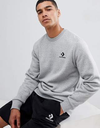 Converse Logo Sweat In Gray 10008816-A03