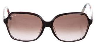 Gucci Interlocking GG Oversize Square Sunglasses