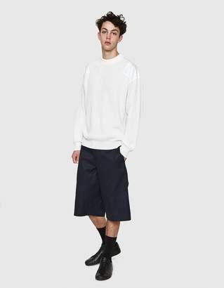 Jil Sander Crewneck Panel Sweater in White