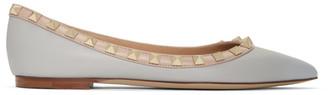Valentino Grey Garavani Rockstud Ballerina Flats