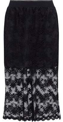Anna Sui Layered Embroidered Tulle Skirt