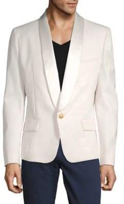 Balmain One-Button Wool Sports Jacket