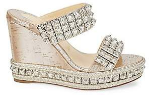 Christian Louboutin Women's Ecu 110 85 Studded Wedge Espadrilles