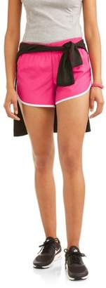 Athletic Works Women's Core Active Dolphin Hem Woven Running Shorts With Hidden Liner