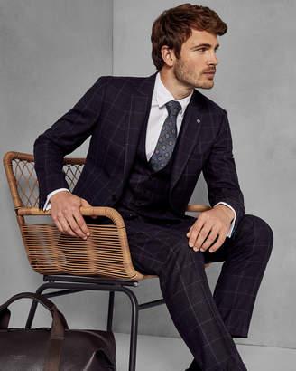 Ted Baker AFANAJ Checked wool suit jacket