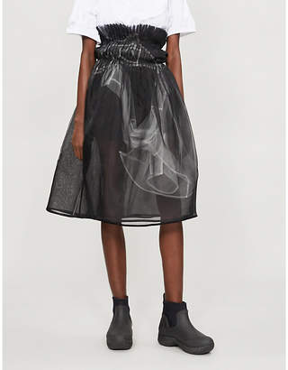 QUETSCHE Layered silk-organza and tulle skirt