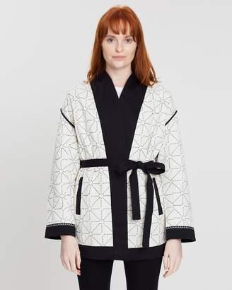 Maison Scotch Quilted Kimono Blazer