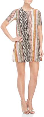 BCBGeneration Short Sleeve A-Line Dress