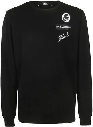 Karl Lagerfeld Paris Knitted Crew-neck Sweater