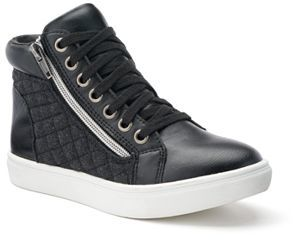 Candie's® Girls' Quilted High-Top Sneakers $54.99 thestylecure.com