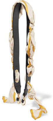 Chloé Leather And Printed Silk-satin Bag Strap