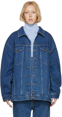 Y/Project Navy Oversized Denim Jacket
