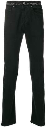 Valentino studded waist slim fit jeans