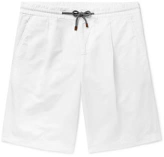 Brunello Cucinelli Linen And Cotton-Blend Drawstring Shorts