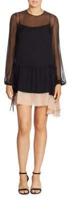 No.21 No. 21 Asymmetrical Silk Drop-Waist Dress