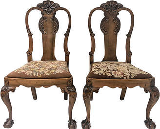 One Kings Lane Vintage 19th C. Queen Anne Side Chairs,Pair - Von Meyer Ltd.