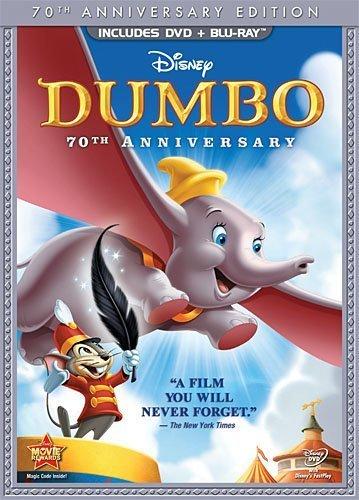 Walt Disney Home Entertainment Dumbo (2-Disc 70th Anniversary Ed Blu-Ray/DVD Combo DVD Packaging)